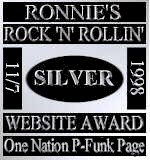 Ronnie's Rock 'N' Rollin' Website Award
